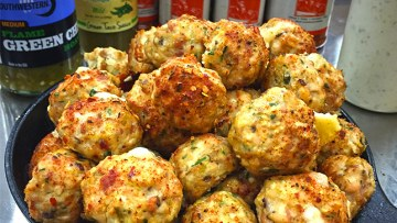 Green Chile Chicken Meatballs Recipe