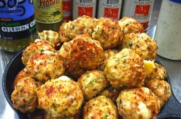 Green Chile Chicken Meatballs Recipe