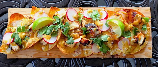 Grilled Cedar Plank Nachos