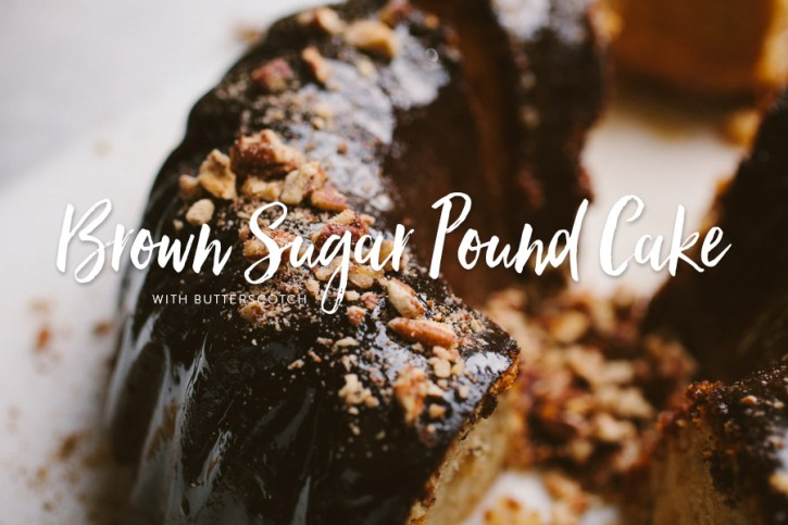 Brown Sugar Pound Cake with Butterscotch Glaze