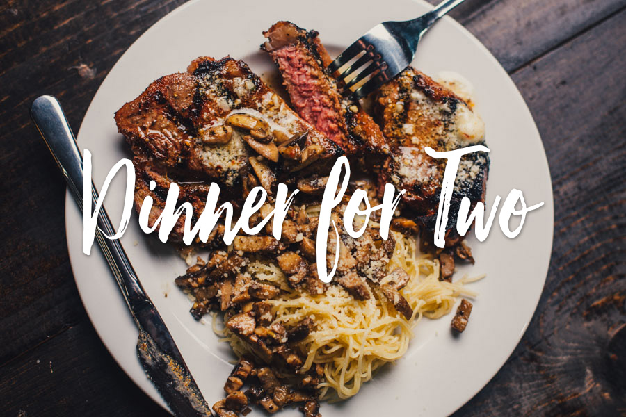 Grilled Steak Dinner for Two | The Sauce by All Things BBQ