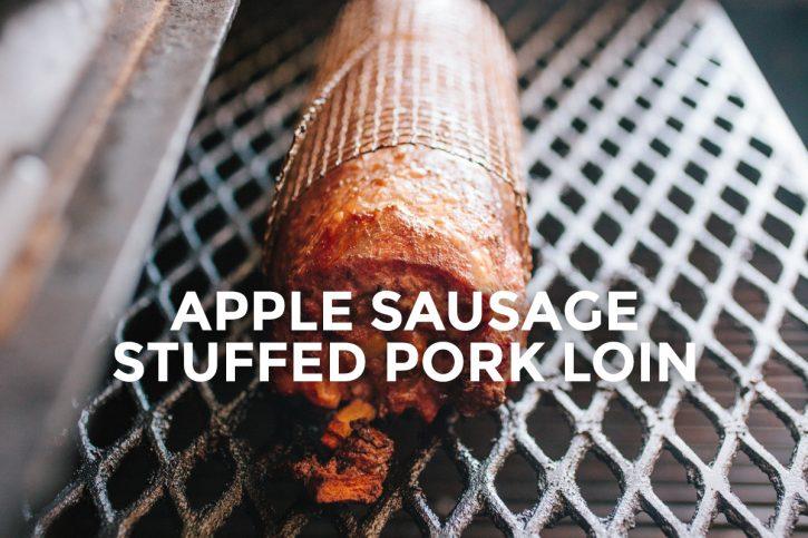 apple sausage stuffed pork loin recipe
