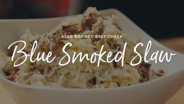 Beer Braised Beef Cheek Blue Smoked Slaw Recipe