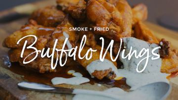Smoke Fried Buffalo Wings Recipe