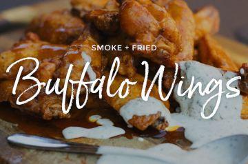 Smoke Fried Buffalo Wings Recipe