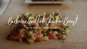 Barbecue Chicken Breasts with Mango Pico de Gallo