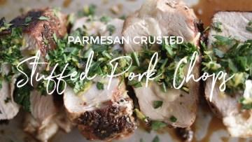 Parmesan Crusted Stuffed Pork Chops Recipe