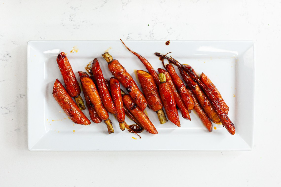Barbecue smoked carrots! Yum!