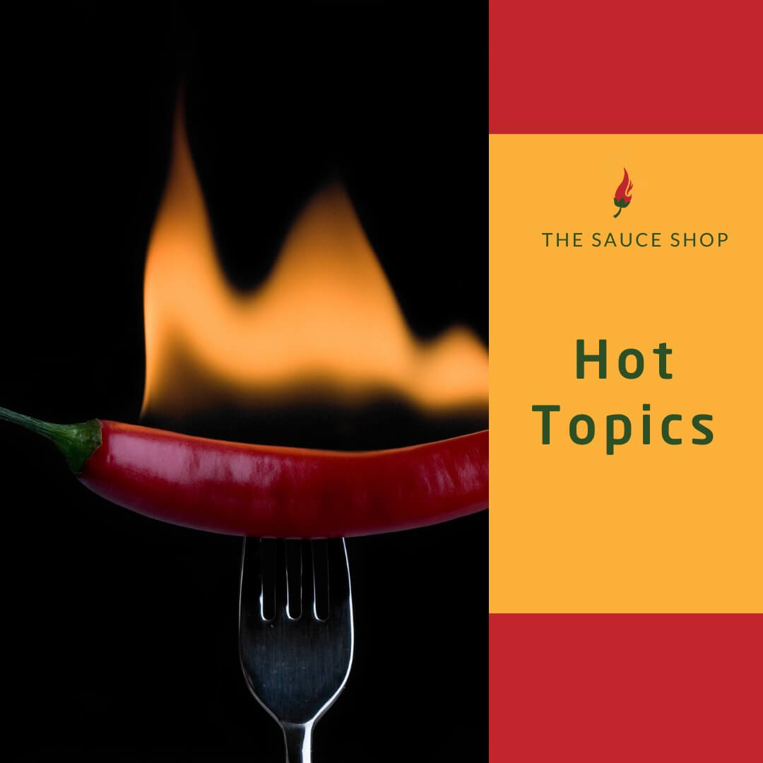 Image of flaming chilli on fok