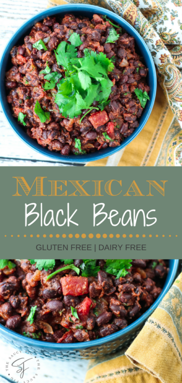 The BEST Mexican Black Beans #mexicanfood #blackbeans #sidedish #dinner | thesaucyfig.com