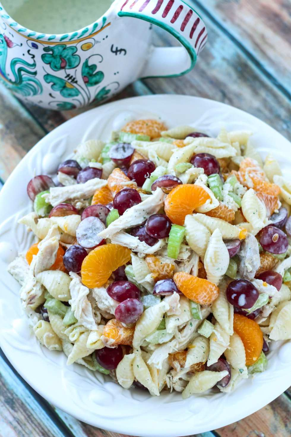fruited pasta salad with chicken