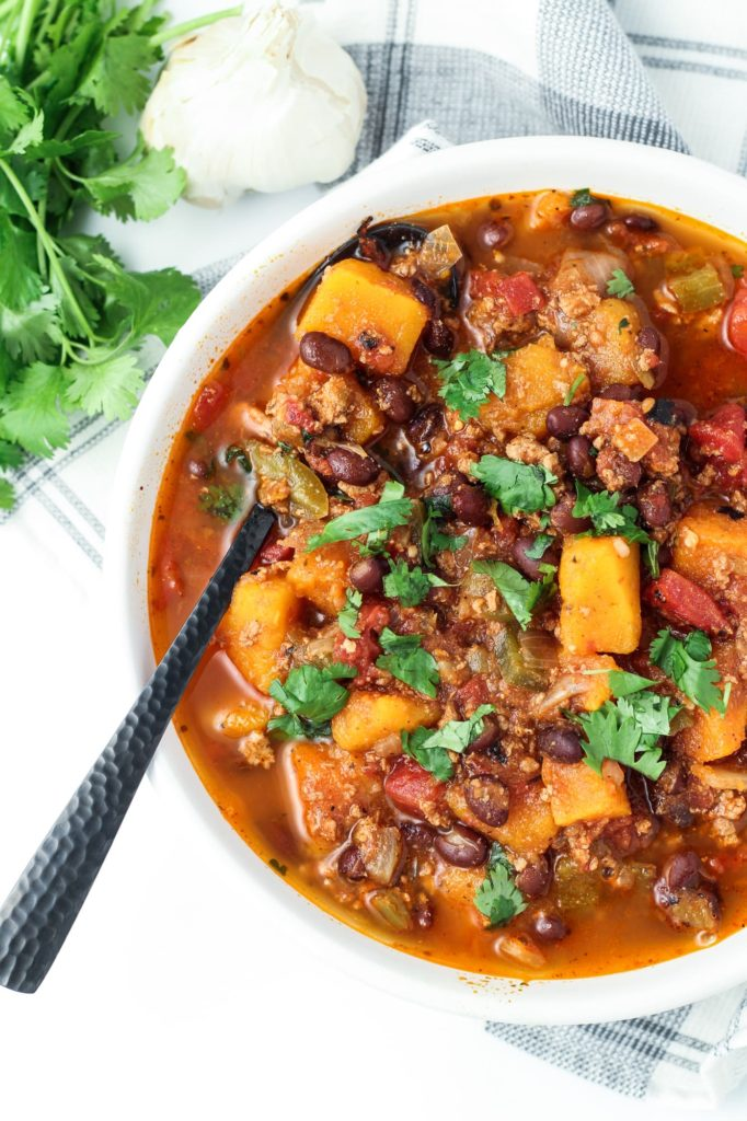 butternut squash turkey chili