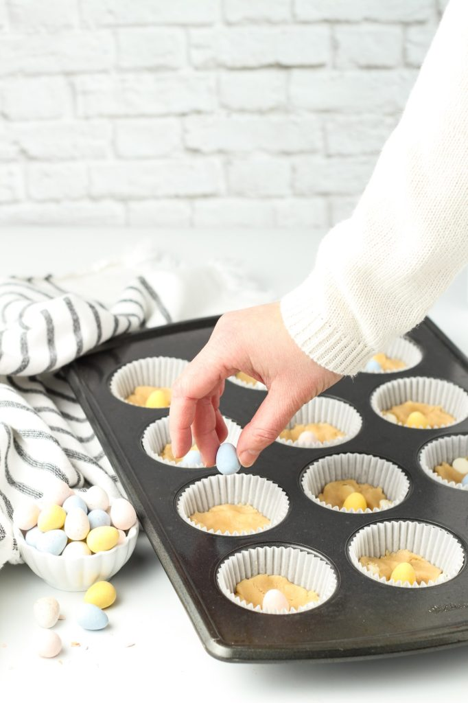 Easter Cookie in muffin tins