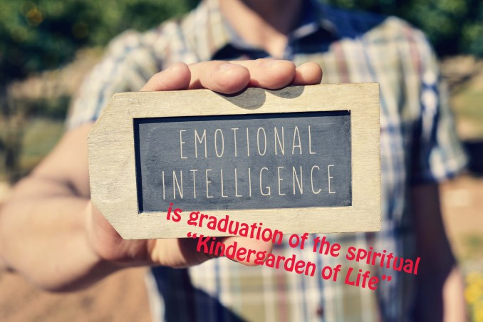 man with a chalkboard with the text emotional intelligence