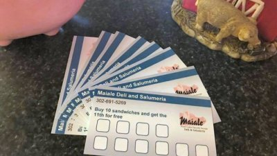Maiale Deli sandwich loyalty card