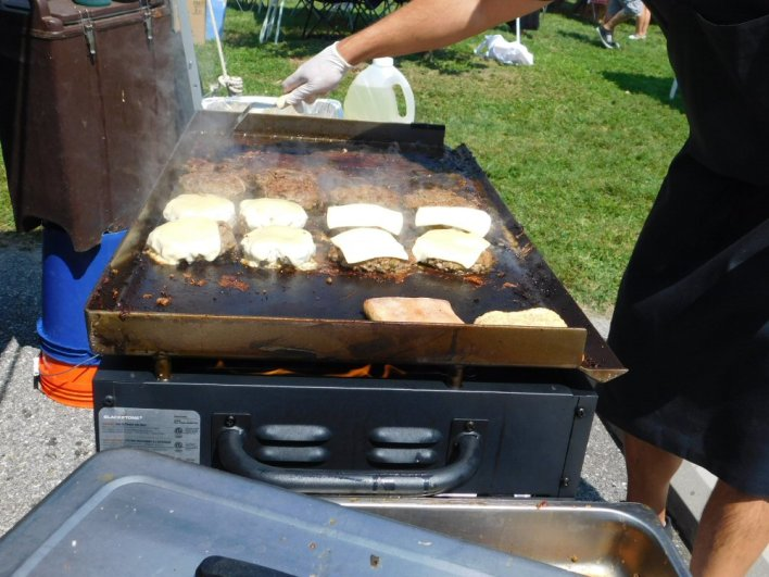 Grilling Up Burgers at the Burger Battle 2017