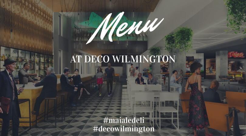 Maiale Menu at DECO Wilmington Pop Up 2019