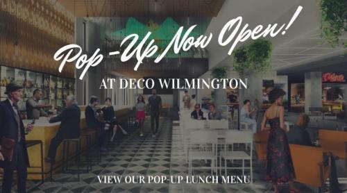 View Our Pop Up Menu for Deco Wilmington 2019