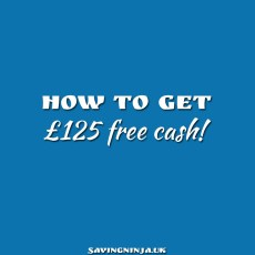 How to get £125 free cash