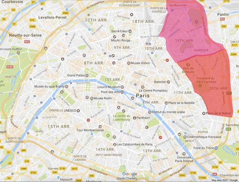 Map Of Paris Districts And Neighborhoods - Map of paris districts