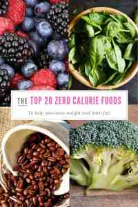 The top 20 zero calorie foods to help you loose weight and burn fat!