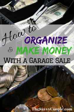 Organize a garage sale and start making money this weekend. We have used this garage sale guide time and time again with great success! There is nothing more rewarding than making a quick hundred even thousand dollars in one weekend by selling things you no longer need.