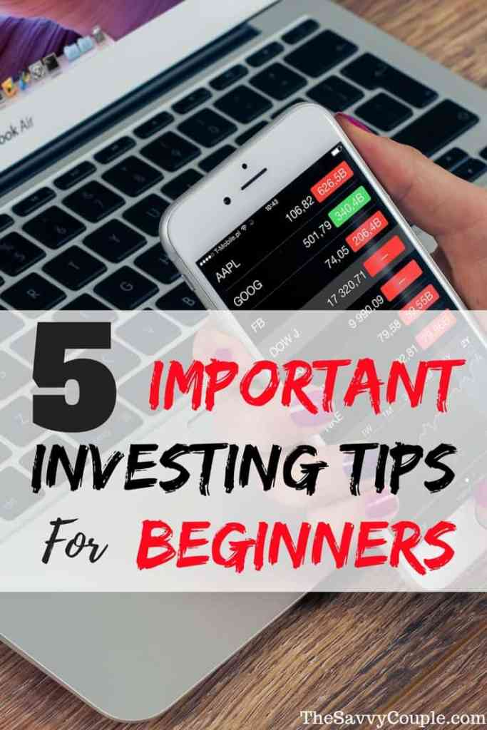 These are the top 5 most important tips for beginning investors. Your retirement and investment accounts need you financially educated! Start with this awesome investing guide.