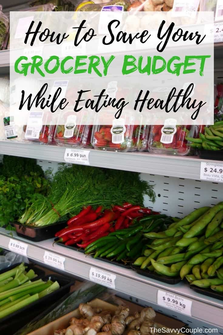 Our step by step process on how to eat healthy with a frugal grocery budget. Learn how to save money, budget meals, meal prep, and enjoy good healthy food!