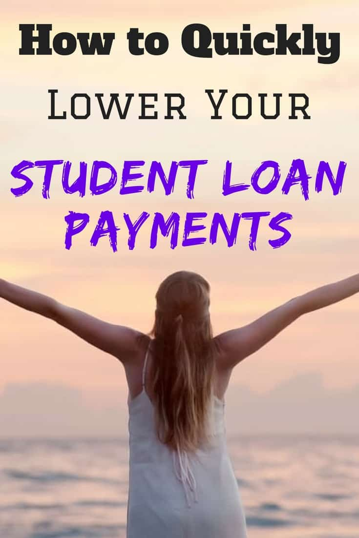 Student loans | Student loan payments | lowering monthly payment | debt free | refinance student loans | This article explains the top two options you can start today to lower your student loan payments.