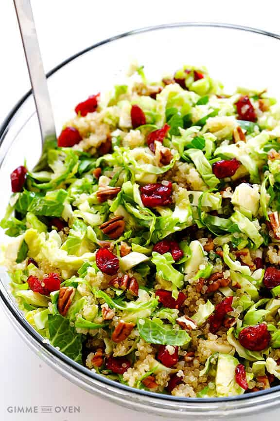 Brussel Sprout Recipes Salad Dried Cranberries