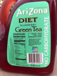 AZ Blueberry Diet Tea Label