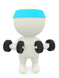 3D person lifting weights