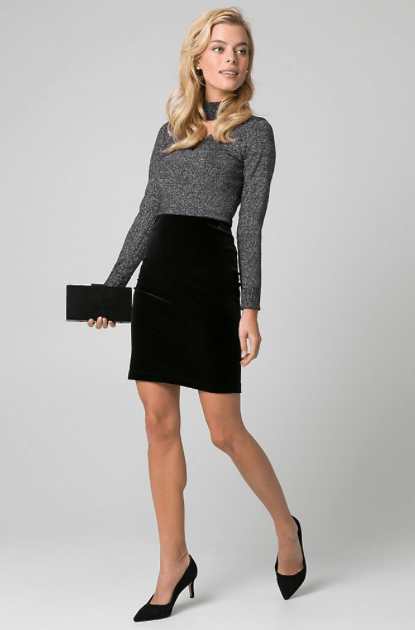 Woman in pencil skirt