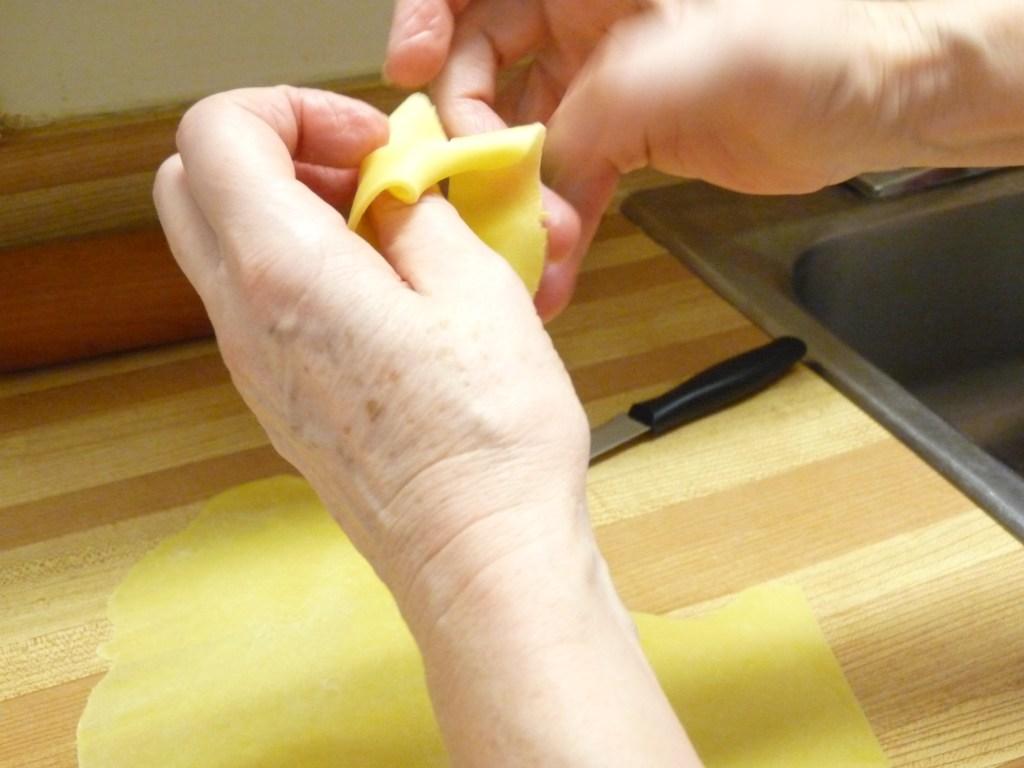 Folding dough