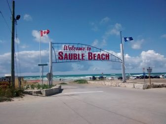 Sauble Beach welcome sign