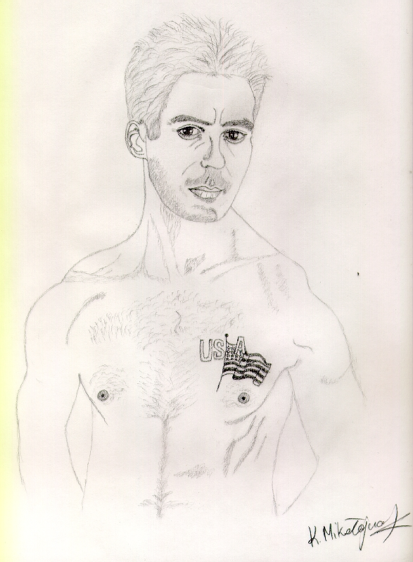 Find creative ways to occupy yourself on a snow day. Check out my RDJ inspired drawing!