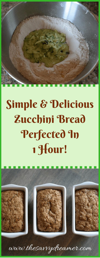 Simple and Delicious Zucchini Bread Perfected In 1 Hour