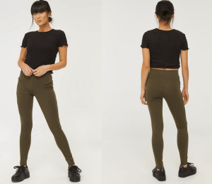 Green leggings from Ardene
