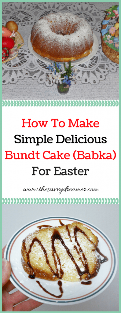 Step-by-step #Easter bundt cake #recipe #dessert #cake #baking #bundtcake