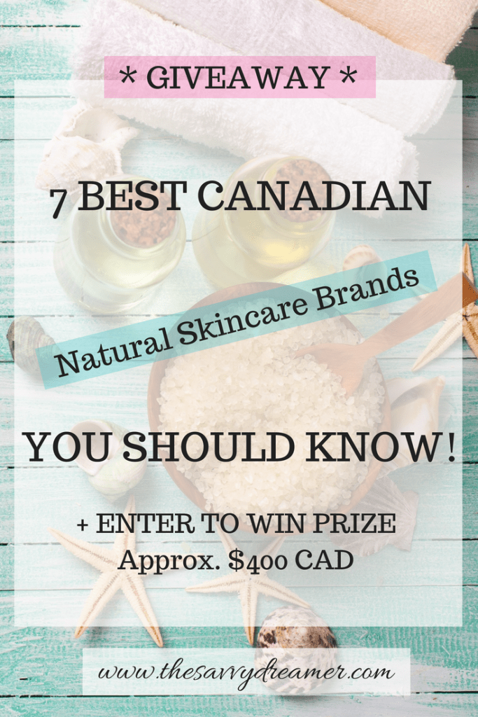 Enter to win $400 CAD worth of natural skincare #beauty #giveaway #contest #Canadian #skincare
