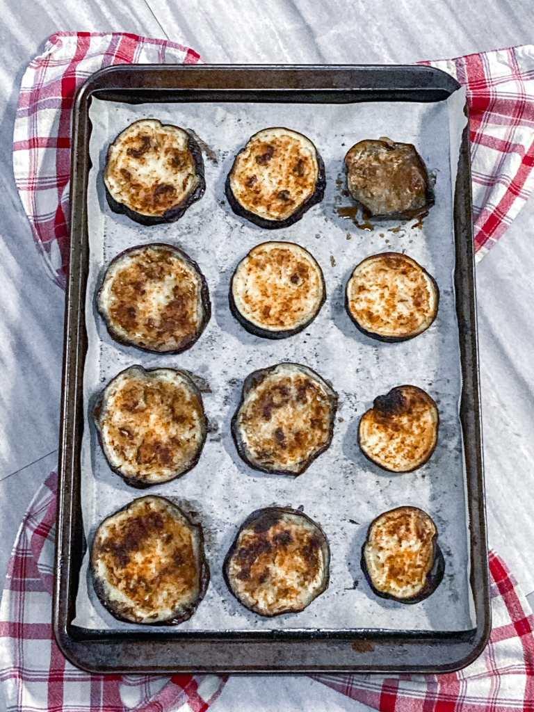 Amazing oven-roasted eggplant