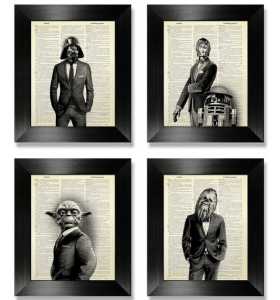Star Wars movie poster on Etsy