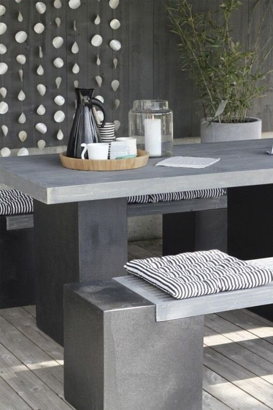 the outdoor concrete furniture trend