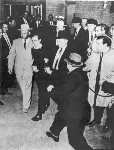 Moment before Lee Harvey Oswald was assassinated