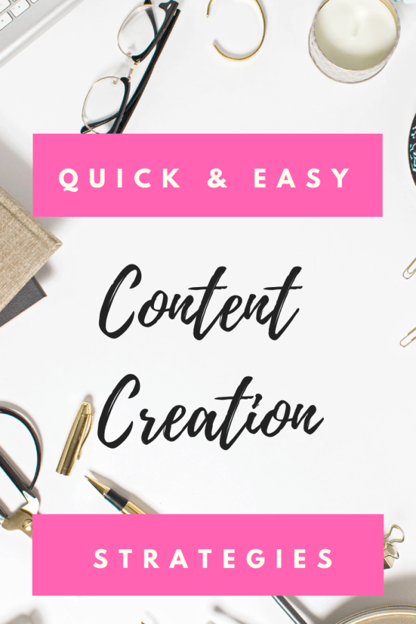 Quick and Easy Content Creation Strategies