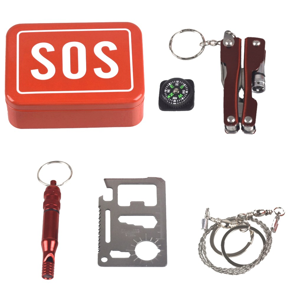 Mini Emergency Outdoor Kit with Waterproof Box