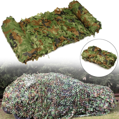 3Mx5M Camo Camouflage Net Waterproof Camping Woodlands Blinds Lightweight Camouflage Camo Netting Mesh For Outdoor Activities