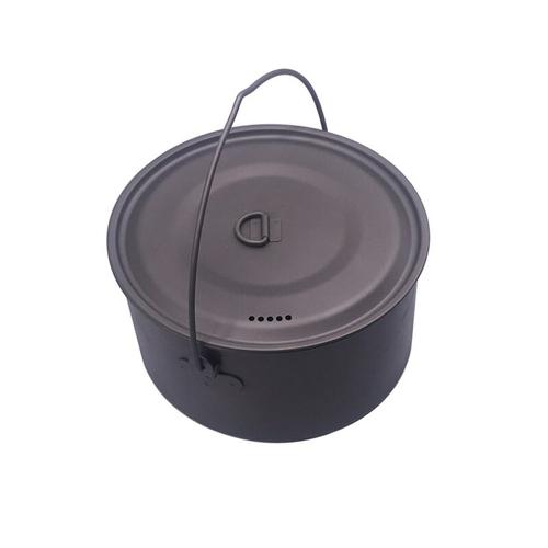 FLAME S CREED 1100ml 1950ml Ultralight Outdoor Camping Titanium Pot pan Cooking Pot fry pan Titanium 2