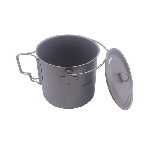 FLAME S CREED 1100ml 1950ml Ultralight Outdoor Camping Titanium Pot pan Cooking Pot fry pan Titanium 3