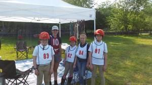 Eventing Rally Team L-R Alex, Nina, Vicki, Christina, Alexis